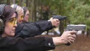 woman firearms class