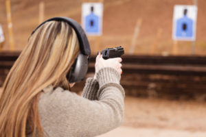girl shooting range